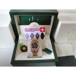 Rolex replica pearlmaster gold yellow red blue bezel orologio replica lady