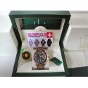 Rolex replica yacht master I new basilea strip leather imitazione orologio