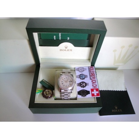 Rolex replica daydate full brillantini SARU edition replica orologio
