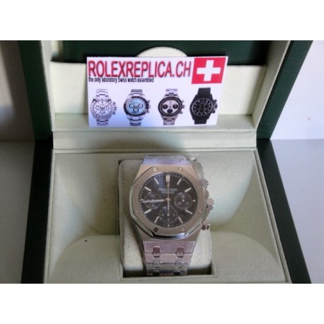 Audemars piguet royal oak chrono blue dial orologio replica copia imitazione