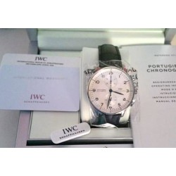 IWC schaffhausen replica portoghese full white chrono