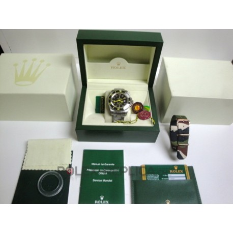 Rolex replica deepsea black out yellow dial imitazione orologio