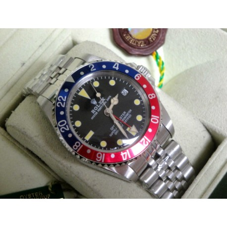 Rolex replica Vintage GMT 1675 PCG Gilt Chapter Ring Dial