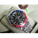 Rolex replica Vintage GMT 1675 PCG Gilt Chapter Ring rosso blue Dial
