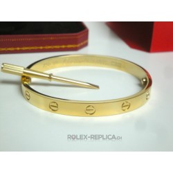 Cartier replica bracciale LOVE oro giallo con kit completo