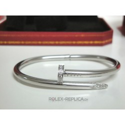 Cartier replica bracciale just on clue white gold con kit completo