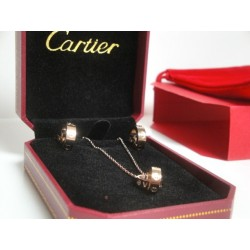 Cartier replica collier complet di orecchini love rose gold con kit completo
