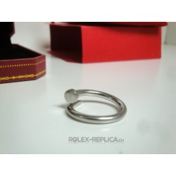 Cartier replica anello just on clue white gold con kit completo