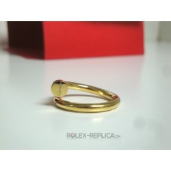 Cartier replica anello just on clue yellow gold con kit completo
