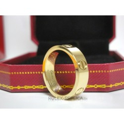 Cartier replica anello love yellow gold con kit completo
