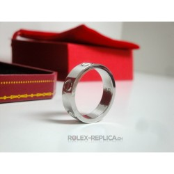 Cartier replica anello love white gold con kit completo