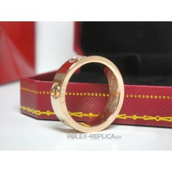Cartier replica anello love rose gold con kit completo