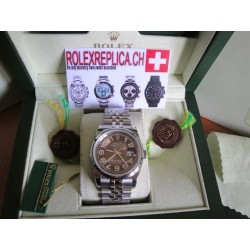 Rolex replica datejust arab brown imitazione jubilèè